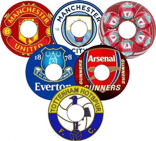 FOOTBALL TEAM BADGE  Wheelchair Spoke Guards